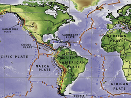 World plate boundaries activity