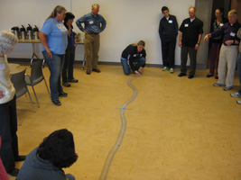 Slinky illustrates how different seismic waves travel