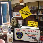 Display from a CEETEP Share-a-thon, where participants from two workshops come together to share and discuss activities since their CEETEP workshops. This display by the North Lincoln County Fire and Rescue incorporated CEETEP materials after the district's outreach coordinator participated in CEETEP.